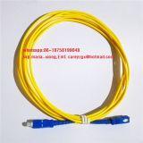 Cordon de raccordement de la communication d'accessoires fibre optique SC-FC Cordon de raccordement à fibre monomode