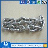 Cadena de eslabones de estándar de acero inoxidable