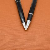 Insieme della penna del regalo della penna di sfera del metallo e della penna del rullo del metallo