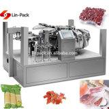 Las frutas y hortalizas de vacío rotativa automática Máquina de embalaje