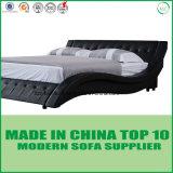 دبي حديثة غرفة نوم أثاث لازم حقيقيّ جلد سرير