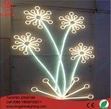 Estrada ao ar livre Pólos do diodo emissor de luz 2D que modelam a iluminação da decoração do motivo da caixa do Natal
