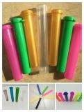 プラスチックBottle Tube Doob Vial Smell Proof Odor HerbかSpice Container Storage Case Color Random