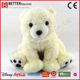 Brinquedo macio do animal enchido do luxuoso do urso polar do afago para miúdos do bebê