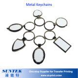 Metal en blanco de encargo al por mayor Keychains de la sublimación de DIY
