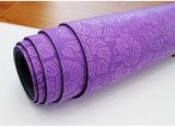 De Mat van de Yoga van de zachtheid met het Leiden van de Groepering Mat van de Yoga van de Geschiktheid van de Vorm van Lijnen de Zwarte Ronde