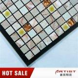 Crepa del ghiaccio di stile del marmo della miscela fresca del mosaico e vetro di ceramica dell'oro