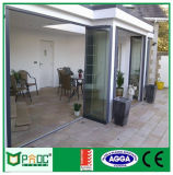Puerta de plegamiento de aluminio de Pnoc080326ls con la película decorativa