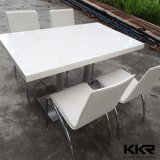 Tabella pranzante di Kfc della mobilia del marmo del quadrato moderno della parte superiore