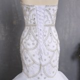 Amelie Rocky 2018 Crystal Sereia vestido de casamento com rebordo