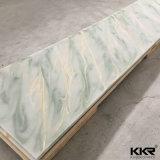 Matériau extérieur solide en pierre artificiel de partie supérieure du comptoir de sembler de marbre