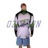Cusotmのジッパーカラー(F007)が付いている紫外線保護人の釣ワイシャツ