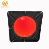 """28 de """" Fluorescente Oranje Kegel van het Verkeer van pvc met Zwarte Basis"""