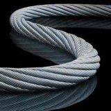 Recubierto de PVC transparente Cable Metálico de acero inoxidable 7X7