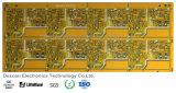 PWB da placa de circuito impresso Multilayer com máscara amarela da solda para a eletrônica