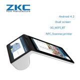 Zkc900 3G WiFi NFC/RFID/Scannerの人間の特徴をもつ手持ち型の計算プリンターPOS