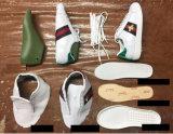 De unisex- Witte Tennisschoen van de Mannen van het Leer, de Aangepaste Tennisschoen van de Vrouwen van het Borduurwerk