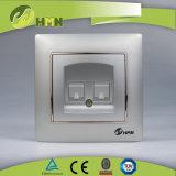 Zoccolo variopinto del telefono del doppio del NERO del piatto certificato CE/TUV/CB di standard europeo