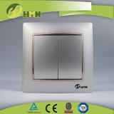 Interruttore D'ARGENTO della parete del gruppo variopinto del piatto certificato CE/TUV/CB 2 di standard europeo