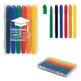 Le volume chaud promotionnel d'approvisionnements de bureau de vente et d'école crayon de cire de 4 paquets