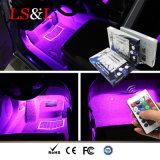 Luz do sarrafo da mudança da cor do diodo emissor de luz RGB usada na iluminação interior do carro