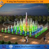 Stagno irregolare che esegue la fontana impermeabile del sistema di musica