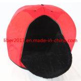 Base rossa del cane di nuovo stile unico di disegno dello SGS personalizzata 2018 con la Camera dell'animale domestico del cane dello strato dell'ammortizzatore del gatto del materasso