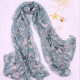2018ばねの花の通気性の綿のリネンスカーフの長い野生の日曜日浜の絹のスカーフ