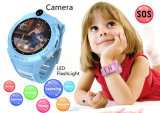 Ronda de 1,4 pulgadas GPS Tracker ver niños con la cámara