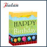 """"""" Carimbo quente do feliz aniversario """" & saco de papel de compra do presente do portador das flores"""