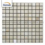 La alta calidad 23*23mm Mosaico piso del baño de Crema Marfil mosaicos de mármol beige