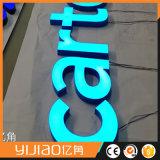 Modificado para requisitos particulares haciendo publicidad del molde impermeable de la visualización que aspira la muestra de acrílico del Lit LED de la cara 3D para el departamento