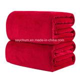 Домашний текстиль диван - кровать флис одеяло летом сплошным цветом одеяла