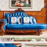 Классические кожаные шезлонгами гостиная (98A)