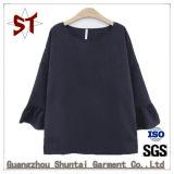 Vestuário de lazer Senhoras T-shirt gola redonda com fecho de correr