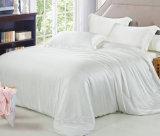 Branco de seda de luxo Lençol