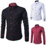새로운 셔츠 우연한 긴 소매 남자 셔츠는 아래로 적당한 셔츠를 체중을 줄인다
