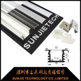 Sj-Alp2515 vertiefte LED-Streifen-Licht-Aluminiumstrangpresßling mit Silber anodisierter Fertigstellung