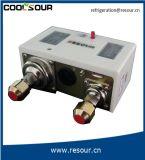 Controllo di pressione doppio del ripristino automatico di Coolsour, montaggio di refrigerazione