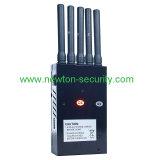 Antena 5 de la señal inalámbrica Portátil Jammer para GSM/CDMA/DCS/3G/GPS/WiFi