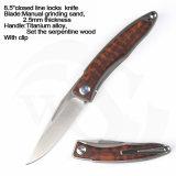"""6.2""""закрыто прочный корпус ручки ручной шлифовки песок Blade помощник пружины ножа"""