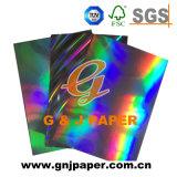 Серый голограмма назад вакуумного переноса на основе металлических бумаги для упаковки