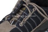 Вскользь ботинки безопасности с верхушкой сетки и замши кожаный
