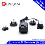 Eco freundlicher Wechselstrom-Adapter Wechselstrom-12W mit auswechselbarem USB-Stecker-Energien-Adapter