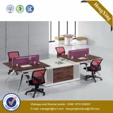 Estação de trabalho de madeira da equipe de funcionários do caixeiro do conjunto da divisória do escritório do MDF (HX-TN160)
