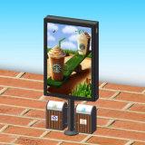 Коробка Mupi улицы алюминиевого двойника профиля бортовая рекламируя светлая