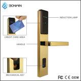 亜鉛合金の鍵カードのエンコーダが付いている電子無線ホテルのドアハンドルロック