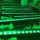 Luz profissional do diodo emissor de luz da lavagem 6in1 da parede da barra do diodo emissor de luz da iluminação 18PCS do poder superior
