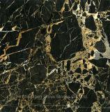 도와 베이스 보드 검정 황금 대리석 마루를 둘러싸는 Protoro 대리석