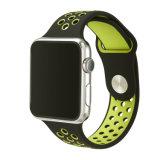 Bande molle de silicones couleurs élevées de Qualit de doubles pour le sport de bande de silicones de montre d'Apple